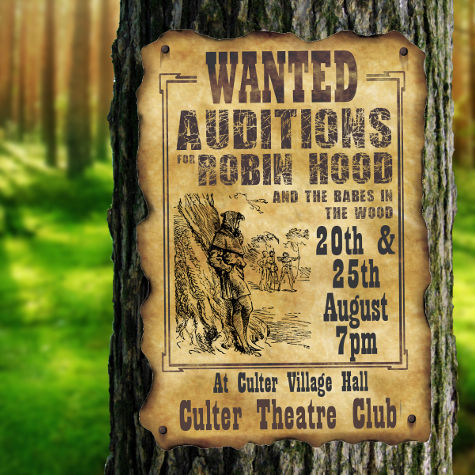 Robin Hood & The Babes in the Wood Auditions